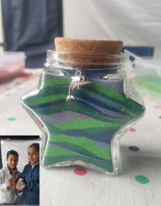 Star sand bottle